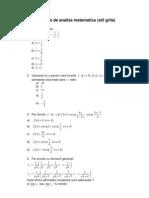 Matematica - teste analiza - www.e-referat