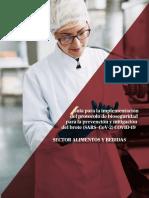 Protocolo sector alimentos
