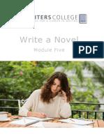 Write a Novel Module Five Creating Scenes