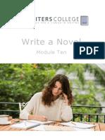 Write a Novel Module Ten Book Production