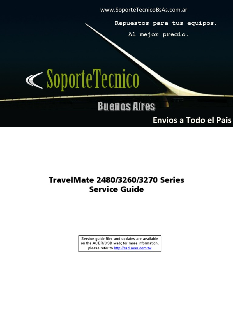 service manual acer travel mate 2480 3260 3270 cd rom dvd rh scribd com Acer TravelMate 5520 Acer TravelMate 2300