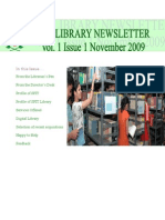 SFIT Library Newsletter Vol 1 Issue 1