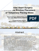 Pacing After Congenital Heart Surgery