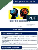 TALLER DE PARAFRASEO