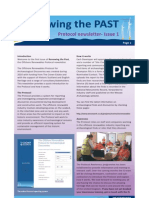 Renewing the Past - Newsletter 1