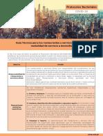 Protocolo Guía Técnica Para Los Restaurantes y Servicios Afines Con Modalidad de Servicio a Domicilio