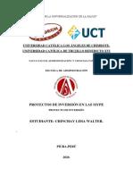 PROYECTOS DE INVERSION EN LAS PYME-ADMINISTARCIOÓN- ULADECH-UCT.
