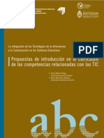 Propuestas de introducción en el currículum de las competencias relacionadas con las TIC'S
