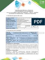 Guía de actividades y rúbrica de evaluación – Tarea 5 – Analizar una fuente de contaminación