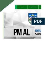 Edital verticalizado - PM AL - Soldado