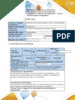 Guía de actividades y rúbrica de evaluación - Fase 5 - Aproximación etnográfica