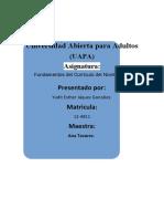 TAREA 6 DE FUNDAMENTOS DEL CURRICULO DEL NIVEL INICIAL
