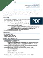 corinne ininahazwe- resume  teaching for online