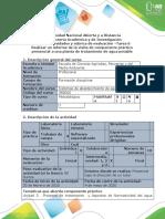 Guía de actividades desarrollo del componente práctico - Tarea 6 Diagnostico
