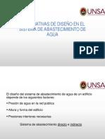 2. ALTERNATIVAS DE DISEÑO EN EL SISTEMA DE ABASTECIMIENTO