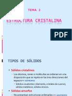 Tema 3.1. Estructura cristalina