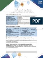 Guia de actividades y rúbrica de evaluación - Ciclo Pre Tarea - Conocimientos Previos