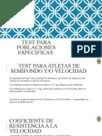 Test para poblaciones especificas