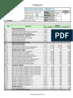 VALORIZACIÓN DE OBRA Nº 001 - Febrero 2014