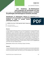 Identificação dos bioativos do Heliotropium Indicum
