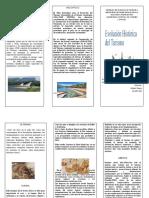 triptico - EVOLUCION HISTORICO DEL TURISMO