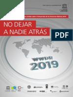 Agua 2019 Iinforme mundial-desarrollo-recursos hídricos