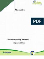Circulo unitario y funciones trigonometricas