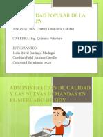 Administración de calidad y las nuevas demandas en