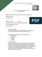 REPORTE DE PRACTICAS DE REFRIGERACION Y AIRE ACONDICIONADO