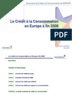 Le credit à la consommation en Europe (fin 2008)