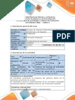 Guía de actividades y rúbrica de evaluación - Tarea 5 - Evaluación final Verificar la apropiación de los conceptos recogidos en el curso (.pdf