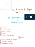 Yellowing of Wool in Dye Bath4