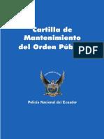 CARTILLA MANTENIMIENTO DEL ORDEN PUBLICO