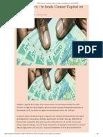 le fonds Comoé Capital en gestation