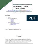 Understanding D.C. Motor Characteristics
