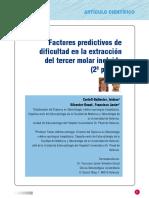 236093958 Factores Predictivos en La Dificultad de Extraccion de Terceros Molares