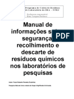 Manual Descarte Quimicos