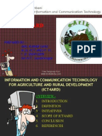 Information and Communication Technology in Agriculture and Rural Development/ICT4ARD