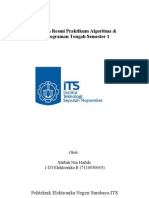 Laporan Resmi Praktikum Algoritma [Dasar Pmrograman C]