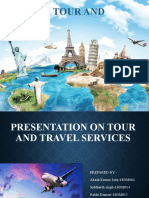PRESENTATION ON TOUR AND TRAVEL SERVICES