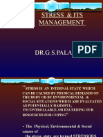 STRESS  & ITS MANAGEMENT