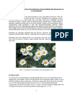 Extraction of Pyrethrins from Chrysanthemum Cinerariaefolium for use as a bio