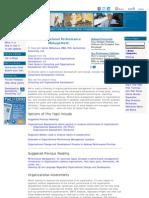 Organizational Performance Management
