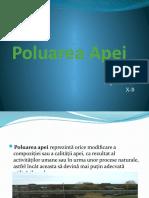 Poluarea Apei Kopan Istvan X-B