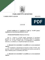 Legea nr. 270/2010 privind modificarea Legii avocaților nr. 51/1995