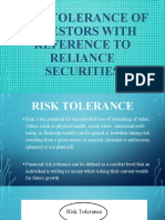 RISK TOLERANCE OF INVESTORS WITH REFERENCE TO RELIANCE.pptx