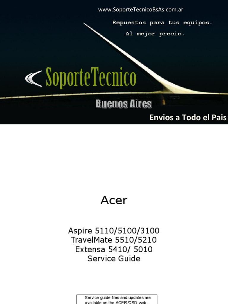 Service Manual -Acer-Aspire-5110-5100-3100-TravelMate-5510-5210-Extens-5410-5010  | Computer Keyboard | Secure Digital