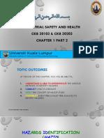 2 CKB 30103  CKB 30203 Chapter 1 Part 2 Ind Safety and health Rev 0