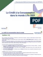 Le marché mondial du crédit à la consommation (fin 2009)