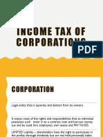 Income tax Corporation